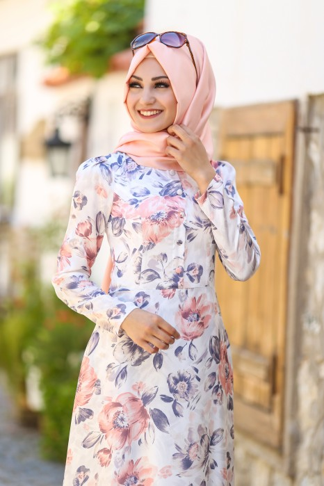 Powder Pink Flowery Dress