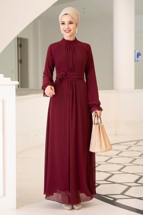 MIRAC DRESS - CLARET RED