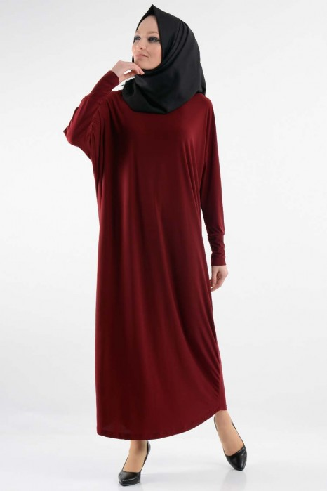 Claret Red Standart Size Dress