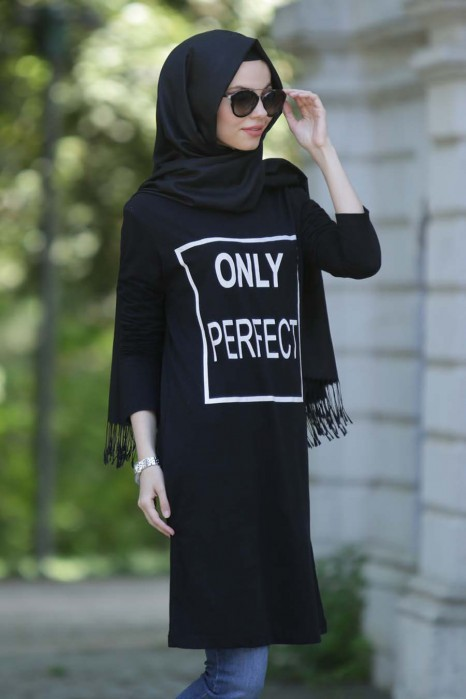 Only Perfect Printed Black Tunic