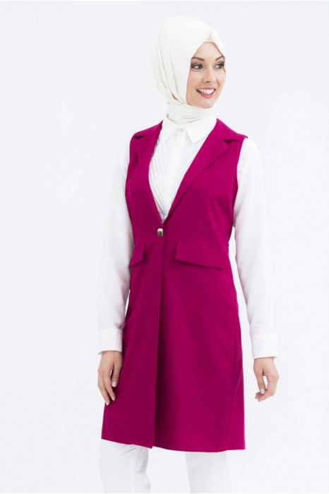 Fuchsia Color Vest